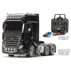 タミヤ☆1/14 RCビッグトラック メルセデス・ベンツ アクトロス 3363 6×4 ギガスペース フルオペレーションセット(プロポ付) 56347|shoptakumi