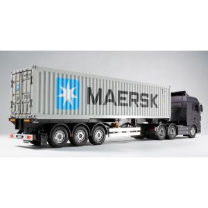 タミヤ☆1/14 RCビッグトラック トレーラートラック用 40フィートコンテナ セミトレーラー 56326|shoptakumi