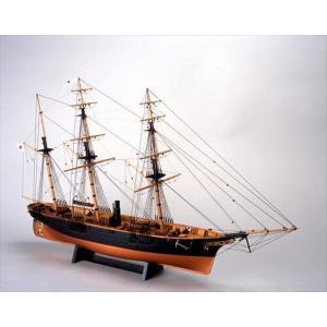 ウッディジョー☆木製帆船模型 1/75 咸臨丸[帆なし・停泊]【4560134351455】|shoptakumi
