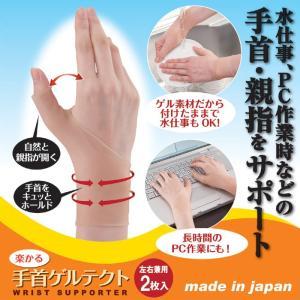 つら〜い手首の痛みに  楽かる手首ゲルテクト(2枚入)   809003 shoptukiusagi