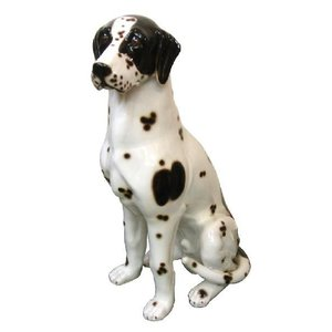 陶器犬の置物 ダルメシアン オス|shoptukiusagi
