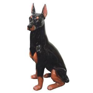 陶器犬の置物 ドーベルマン|shoptukiusagi