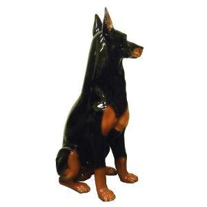 陶器犬の置物 ドーベルマン|shoptukiusagi|03