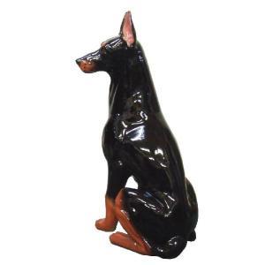 陶器犬の置物 ドーベルマン|shoptukiusagi|04