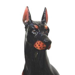 陶器犬の置物 ドーベルマン|shoptukiusagi|05