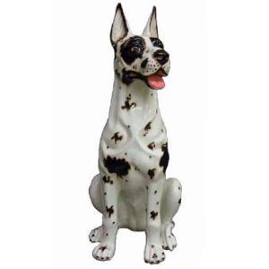 陶器犬の置物 グレートデーン|shoptukiusagi