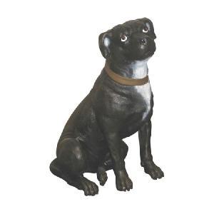 FRPアニマルオブジェ 誇り高きテリア 犬の置物|shoptukiusagi