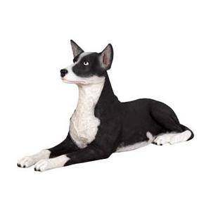 FRPアニマルオブジェ 横たわるケルピー犬|shoptukiusagi