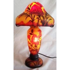 ガレ風ランプ 花文 高さ36cm 直径23cm GL866 shoptukiusagi