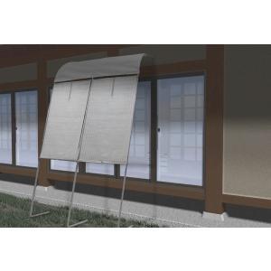 アーチ型立て掛けサンシェード  テラス・on【一間】 幅180×高さ230〜280cm|shoptukiusagi