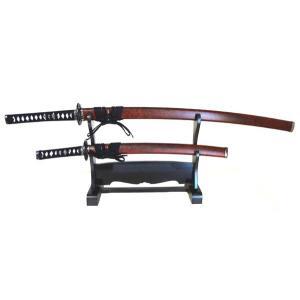 日本刀・美術刀 赤石目(模造刀)大刀・小刀セット 掛け台なし【送料無料】|shoptukiusagi