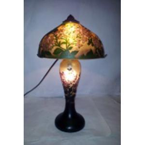 ガレ風ランプ 花文 高さ43cm 直径24.5cm XH-1037A shoptukiusagi