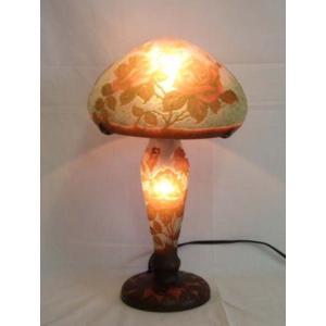 ガレ風ランプ 薔薇文 高さ35cm 傘の直径20cm XH-805 shoptukiusagi