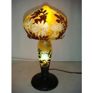 ガレ風ランプ 花文 高さ33cm 直径17cm XH-C626 shoptukiusagi