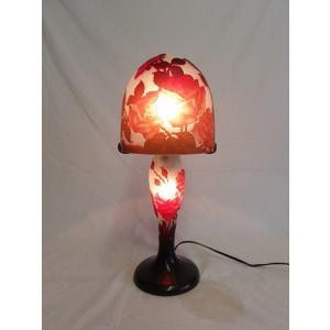 ガレ風ランプ 薔薇文 高さ44cm 直径18cm XHL801 shoptukiusagi