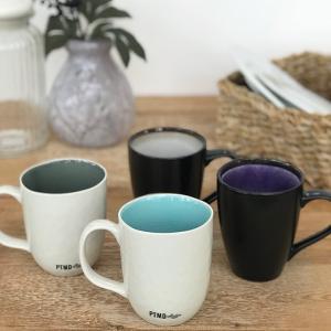 CANO セラムマグカップ/ブラック&パープル|shopv