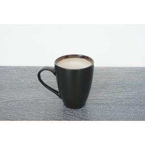 CANO セラムマグカップ/ブラック&ホワイト|shopv