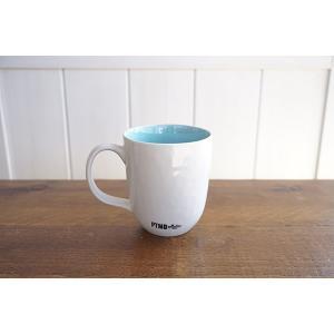 CANO セラムマグカップ/ホワイト&ライトブルー|shopv
