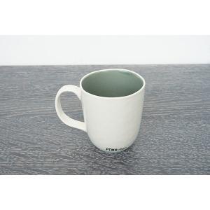 CANO セラムマグカップ/ホワイト&グレー|shopv