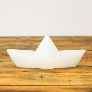 ボートキャンドル M/ホワイト|shopv