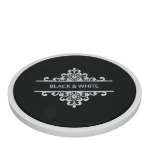BLACK&WHITE ウッド付きラウンドカッティングボード|shopv