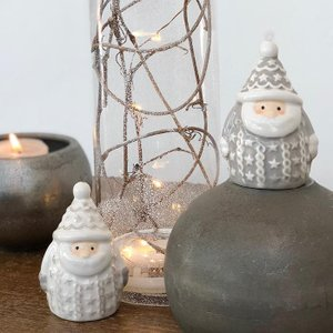 CHRISTMAS ミニサンタ/ホワイト|shopv