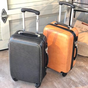 Leather スーツケース/ブラック|shopv