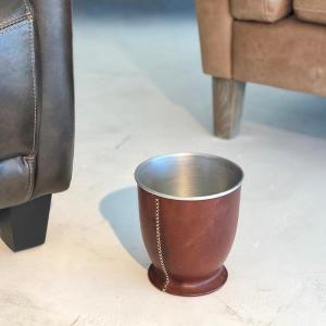 Leather ポットS/ブラウン|shopv