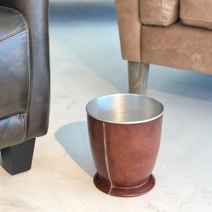 Leather ポットM/ブラウン|shopv