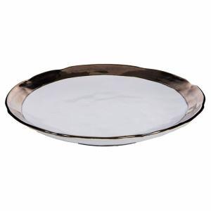 セラミック製ゴールドリムのプレートXL(ホワイト) shopv