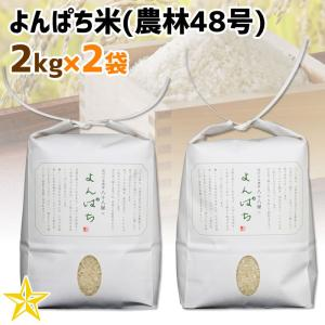 お米 武川米 農林48号 100% 山梨県 北杜市産 よんぱち米 2kg×2袋|shopvision