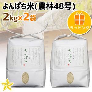 お米 武川米 農林48号 100% ギフト 山梨県 北杜市産 よんぱち米 2kg 2袋 贈答用ラッピング|shopvision