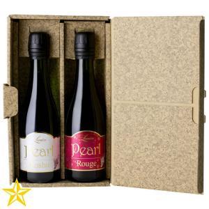 山梨ワイン スパークリングワイン ギフトセット ルミエール パール甲州 パールルージュ 375ml 2本セット shopvision