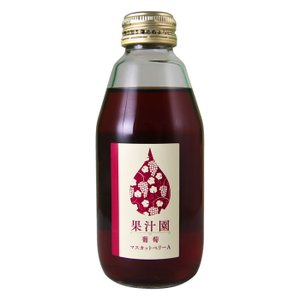 ぶどうジュース 果汁100% ストレートジュース 東夢農能工房 果汁園 マスカットベリーA 200ml 単品 shopvision