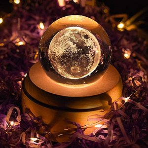 「最新版」オルゴール 誕生日プレゼント 女性 おしゃれ LEDライト 月のランプ USB充電式 投影 クリスタル ボール インテリア かわいい 癒しグ shopwin-win