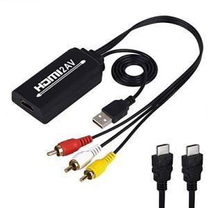 HDMI to RCA変換ケーブル HDMI to AVコンバータデジタル 3RCA/AV 変換ケーブル Apple TV/HDTV/Xbox/PC/|shopwin-win