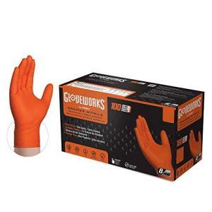 Gloveworks HD ニトリル手袋 ダイヤモンドテクスチャード グリップ付き ラテックスフリー パウダーフリー 使い捨て手袋 工業用 作業用 G|shopwin-win