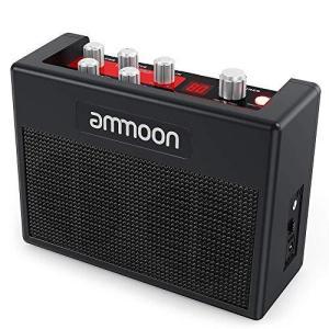 ammoonポータブル ギターアンプ マルチエフェクト 小型アンプ 内蔵 80ドラムリズム チューナータップテンポ機能をサポート Aux入力ヘッドフォ|shopwin-win