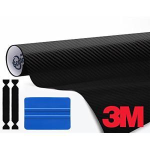 3M 1080ブラックカーボンファイバー 1フィートx5フィート ビニール車ラップ 3Mツールキット付き shopwin-win