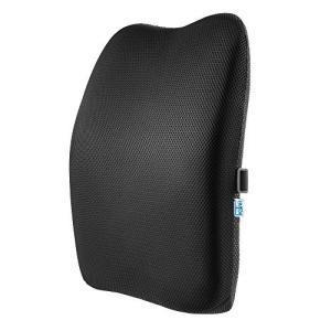 IKSTAR クッション 低反発 ランバーサポート オフィス 椅子 車用 腰枕 RoHS安全基準クリア 取付バンド調節可能 洗える 介護用クッション shopwin-win