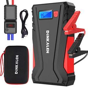 DINKALEN ジャンプスターター 12V車用 エンジンスターター QC3.0充電 12800mAh ピーク電流800A ポータブル 緊急ライト搭載 shopwin-win