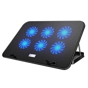 【2021年最新の 6つ冷却ファン 5段階調整 強冷 超静音】 ノートパソコン 冷却パッド 冷却台 ノートPCクーラー クール 超静音 USBポート2 shopwin-win
