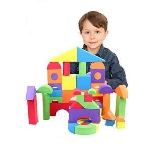 B.H. Select やわらか つみき ブロック EVA素材 知育玩具 安全な おもちゃ スマイル おかたづけ袋付き (JOY@SoftBlock5 shopwin-win
