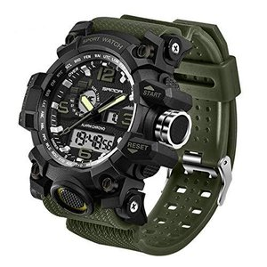 CHURACY ミリタリー ウォッチ 時計 サバイバルゲーム 防水 デジタル アナログ 腕時計|shopwin-win