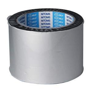 ニトムズ プロセルフ 防水アルミテープ ブチル トタン屋根 雨どい 修理 屋外 補修 耐久 幅75mm×長さ5m×厚さ0.5mm 1巻入 シルバー J|shopwin-win