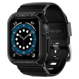 Spigen Apple Watch バンド 44mm 一体型 ケース カバー 耐衝撃 PC TPU 二重構造 スポーツバンド 落下 衝撃 吸収 耐久|shopwin-win