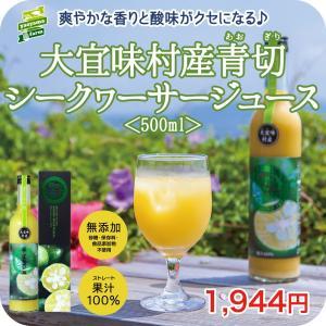 大宜味村産 青切(あおぎり) シークヮーサー ジュース 100% 500ml 誕生日 挨拶 贈答 出...
