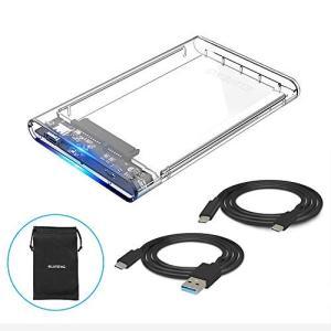 ELUTENG 2.5インチ HDD/SSD ケース USB3.1 GEN 1 Type-C SAT...