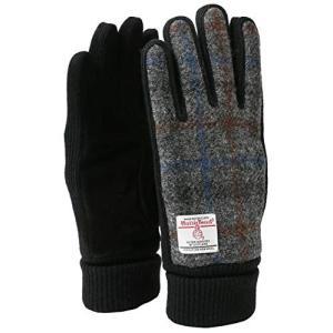 [ハリスツイード] 手袋 防寒グローブ ツィード素材