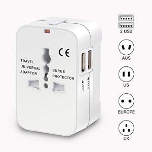 変換プラグ 海外旅行用品 海外旅行用コンセント 安全旅行充電器 ACアダプタ 急速充電対応 2個US...